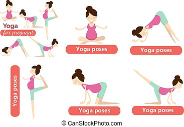 set of yoga poses for pregnant women prenatal exercise