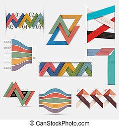 vector, set, infographic, ontwerp