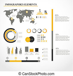 vector, set, infographics