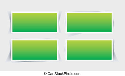 Vector set instant photo frames with different shade forms...