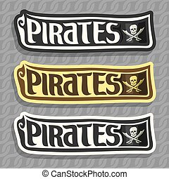Vector set labels for Pirate theme