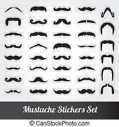 vector, set, mustache