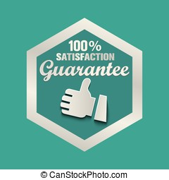 Vector set of 100% guarantee