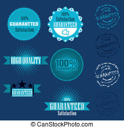 Vector set of 100% guarantee label
