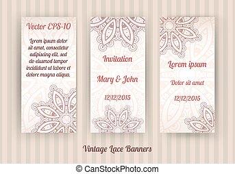 vintage lace banner templates