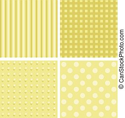 Vector set of 4 background patterns. - Vector set of 4...