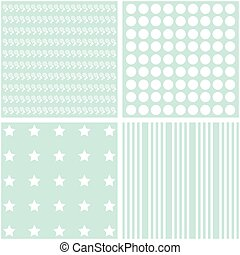 Vector set of 4 retro background patterns