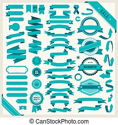 vector set of 58 ribbons