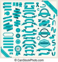 vector set of 58 ribbons