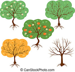 vector set of a harvest seasons of