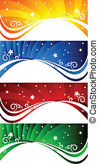 Vector set of abstract banners