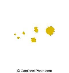 Vector set of abstract hand drawn blots.