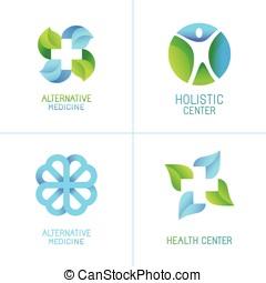 Vector set of abstract logos and emblems