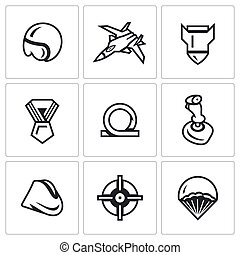 Vector Set of Air Force Icons