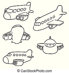 vector set of airplane