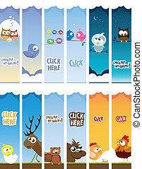 animal web banners
