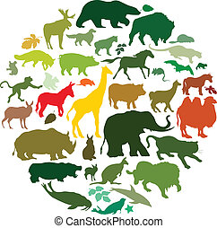 animals - vector set of animals