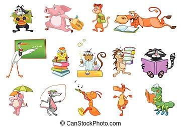 Vector set of animals illustrations.