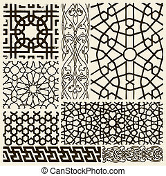 vector set of arabesque designs