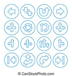 Vector Set of Arrows Icons Isolated on White