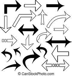 Vector set of arrows isolated