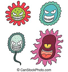 vector set of bacteria