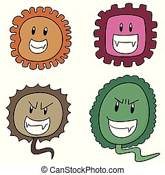 vector set of bacteria