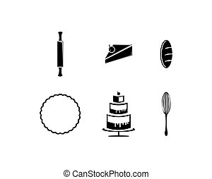 Vector set of bakery icons