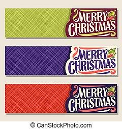 Vector set of banners for Christmas
