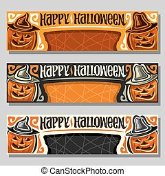 Vector set of banners for Halloween