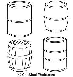 vector set of barrel