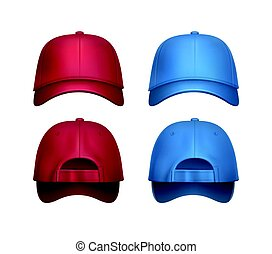Vector set of Baseball caps