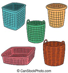 vector set of basket