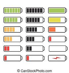 Vector set of batteries