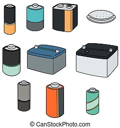 vector set of battery