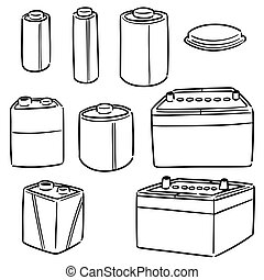 vector set of battery
