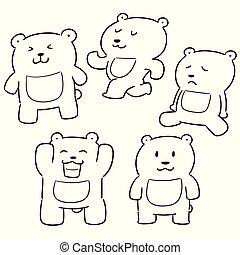 vector set of bear