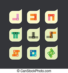 Vector set of beautiful abstract color icons