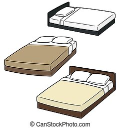 vector set of bed