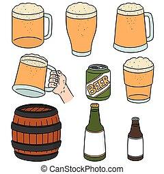 vector set of beers