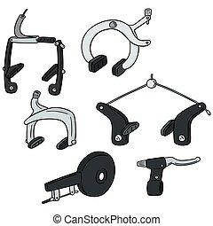 vector set of bicycle brake type
