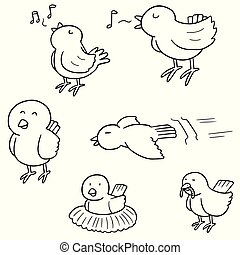 vector set of birds