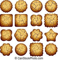 vector set of biscuit cookies