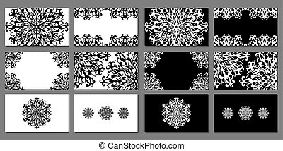 vector set of black and white business cards