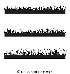 Vector set of black grass