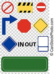 set of Blank Signs - vector set of Blank Signs