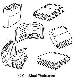vector set of book