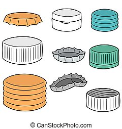 vector set of bottle cap