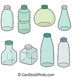 vector set of bottle
