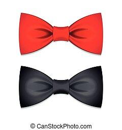 Vector set of bow ties